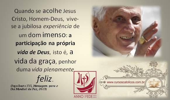 A Caminho: Mensagem Do Papa Bento XVI Para O Dia Mundial