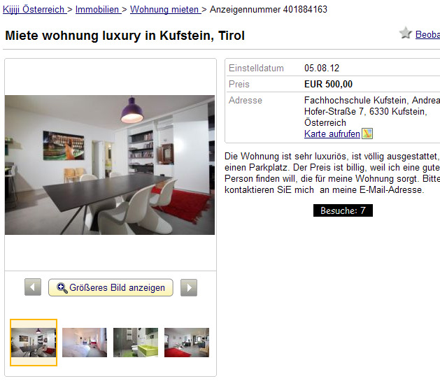Miete wohnung luxury in for Miete wohnung