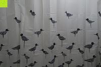 Vögel: Norcho Anti-Schimmel Duschvorhang Wasserdicht Waschbar mit 12 Duschvorhangringe 200x200cm Blau Vögel