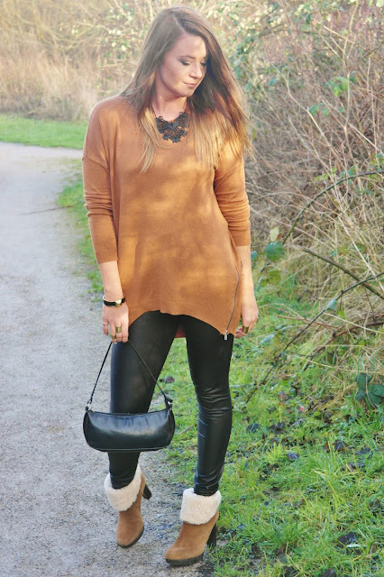 tan oversized jumper
