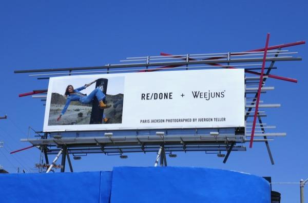 ReDone Weejuns Paris Jackson billboard