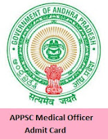 APPSC Medical Officer Admit Card