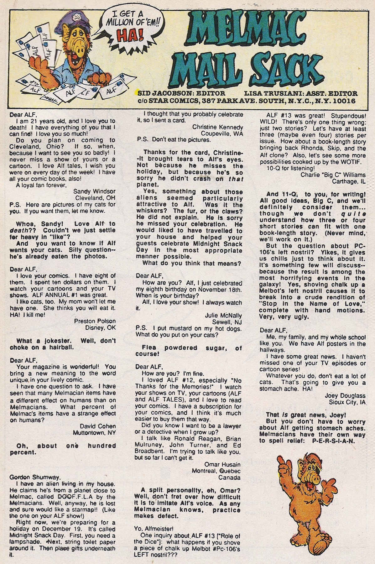 Read online ALF comic -  Issue #16 - 33
