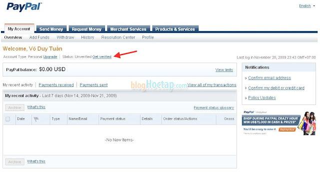 hướng dẫn đăng ký paypal bước 6