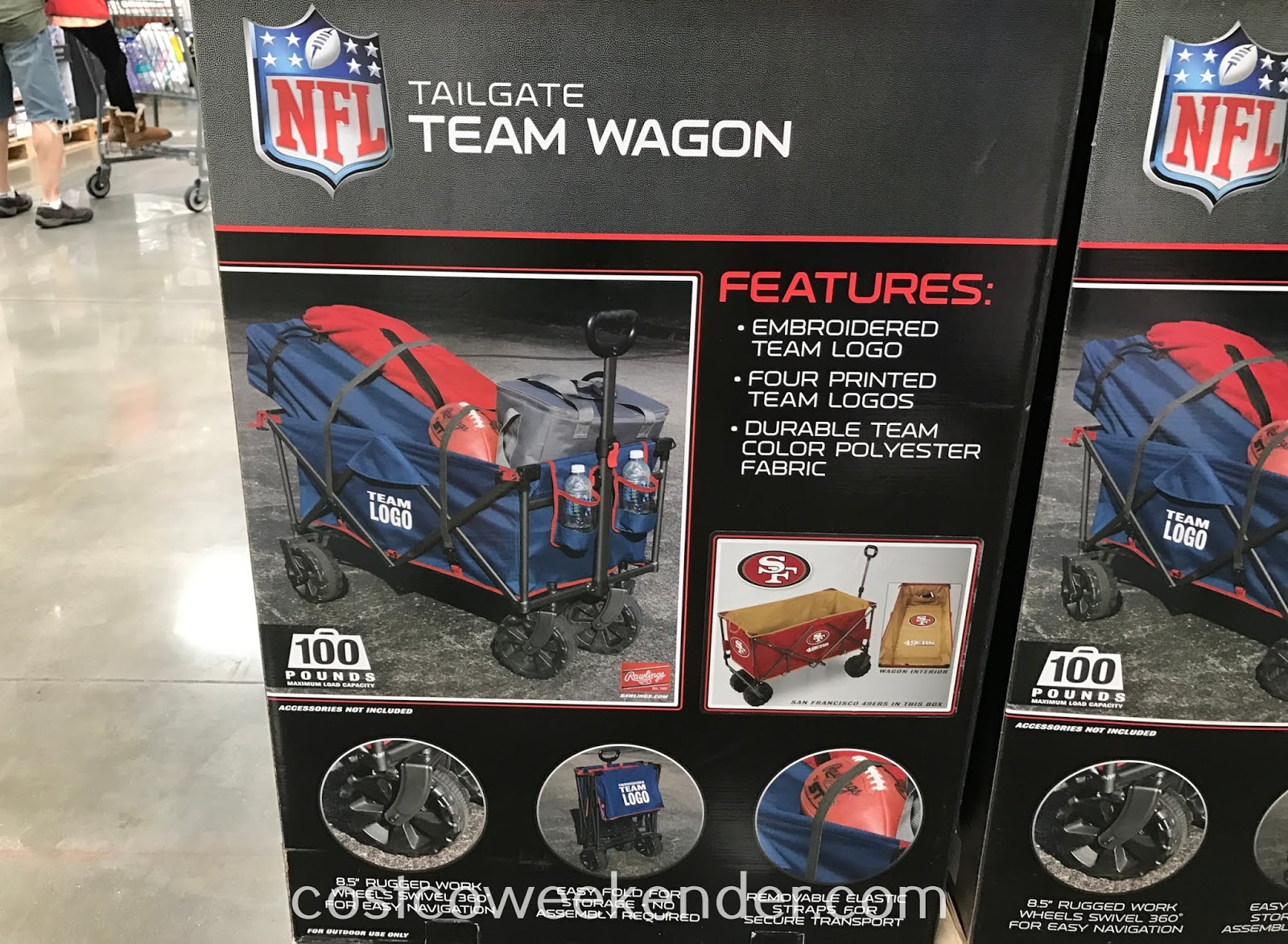 Costco 1233104 - Rawlings Tailgate Team Wagon: great for picnics in the park, tailgating at a game, or a day at the beach