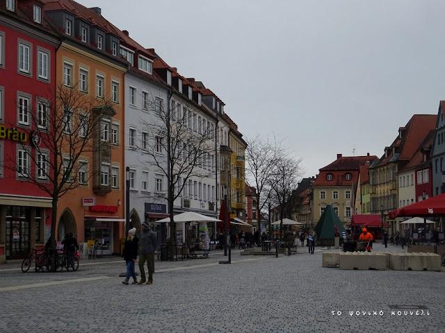 Κεντρικός πεζόδρομος στο Μπαϊρόιτ της Γερμανίας / The center of Bayreuth, Germany