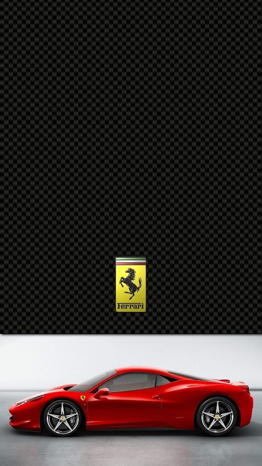 Ferrari 458 Italia Lock Screen  Galaxy Note HD Wallpaper