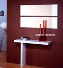 recibidor moderno espejo