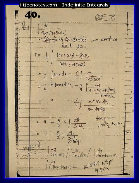indefinite integrals cbse3