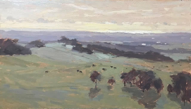 #270 'Morning Frost, The Trundle' 8×14″