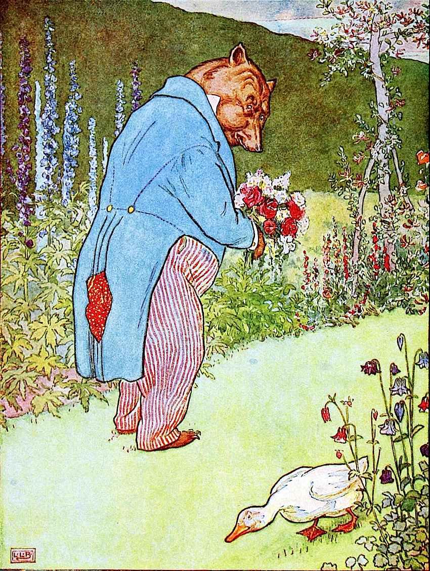 L. Leslie Brooke children's book illustration, bear