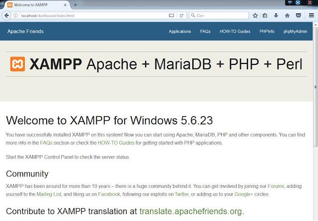 Cara Instalasi XAMPP di Windows - XAMPP localhost