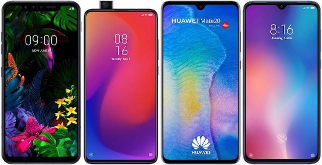 LG G8s ThinQ vs Xiaomi Mi 9T Pro 64G vs Huawei Mate 20 vs Xiaomi Mi 9 64G