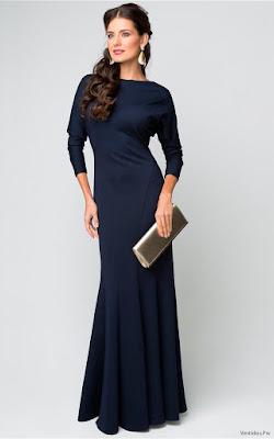 Vestidos de Noche Azul