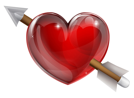 Arrow heart icon