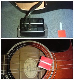 звукосниматель и провода в гитаре