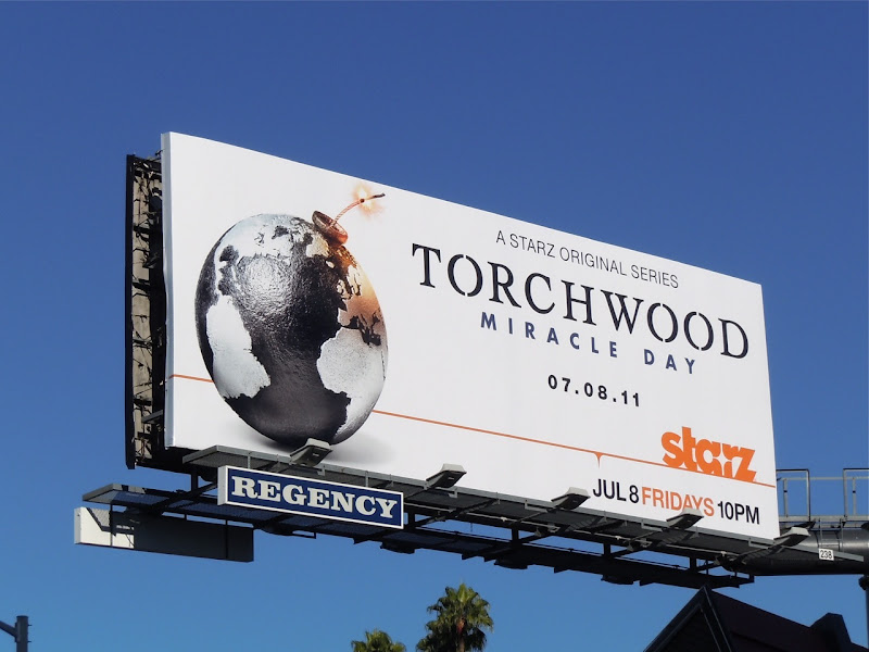 Torchwood Miracle Day TV billboard
