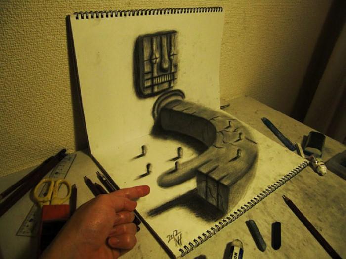 3D иллюзии. Nagai Hideyuki 25
