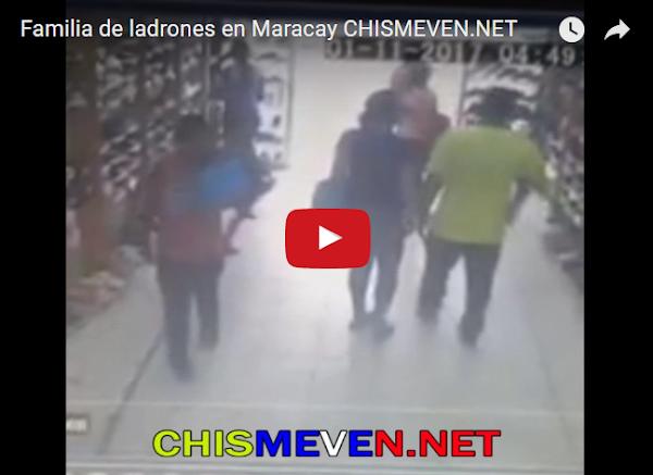Familia utiliza a niña para robar zapatos en Maracay