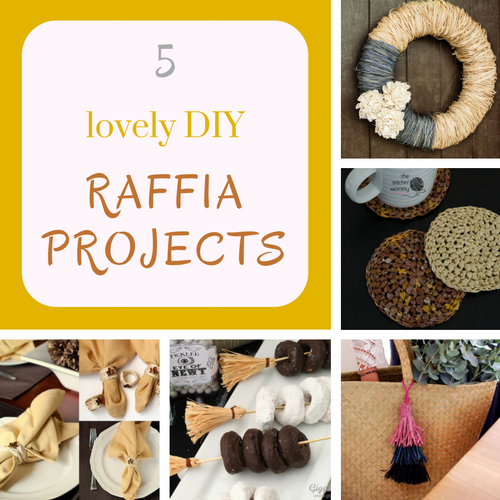 5 lovely DIY raffia projects