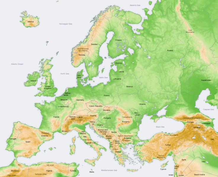 Cartina Europa Fisica Da Colorare Pieterduisenberg