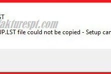 Tidak Bisa Install eSPT Error The SETUP.LST File Could Not Be Copied-Setup Cannot Continue