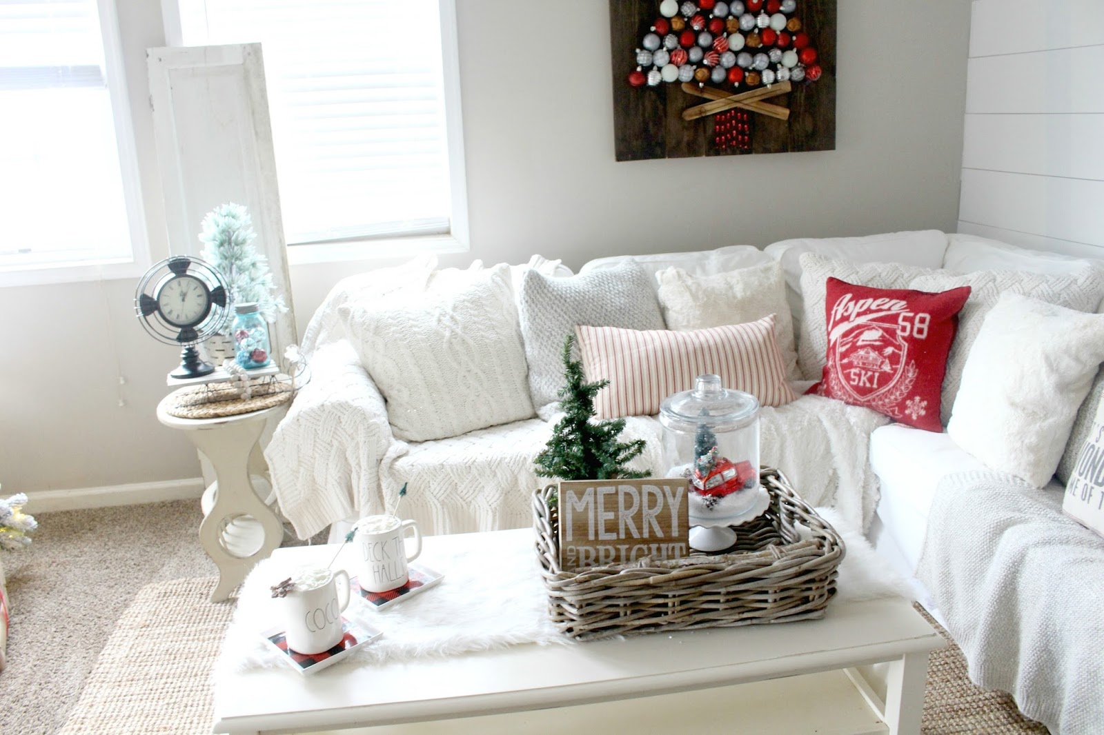 How To Decorate Your Coffee Table for Christmas - The Glam Farmhouse