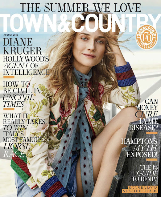 Actress, Model, @ Diane Kruger - Victor Demarchelier Photoshoot for Town & Country August 2016