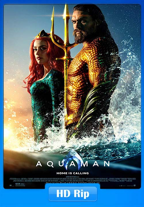 Aquaman 2018 720p HC HDRip Hindi Tamil Telugu Eng x264 | 480p 300MB | 100MB HEVC Poster