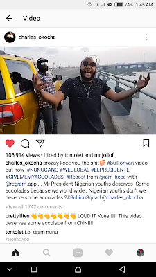 Kcee on Instagram