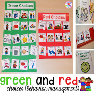 http://www.pocketofpreschool.com/2015/07/green-and-red-choice-board.html