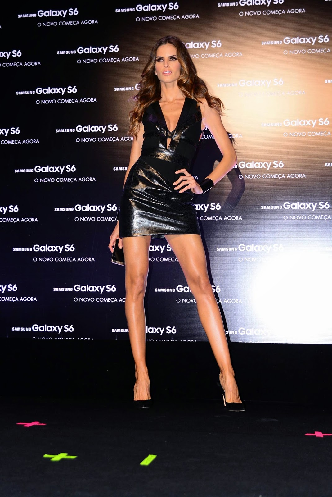 Lovely Ladies In Leather Izabel Goulart In A Leather Mini