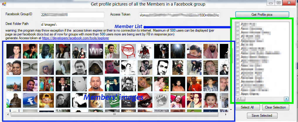 How to get my facebook group page access token c#