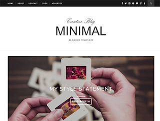Minimal Slider Blogger Template