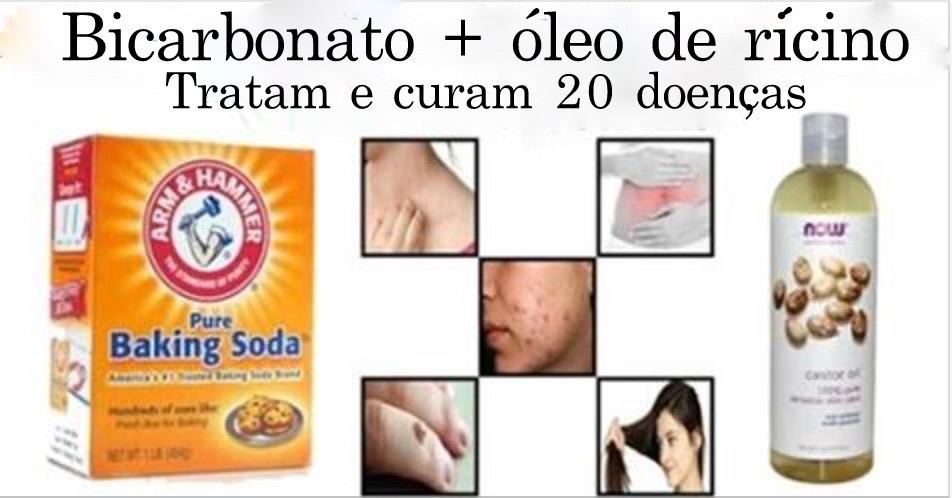 Bicarbonato de sódio e óleo de rícino juntos pode livrar seu corpo destas 20 doenças!blog materno, moda infantil, gravidez