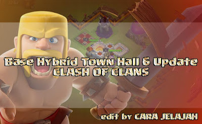 Sususan desain pertahanan base hybrid TH 6 di clash of clans