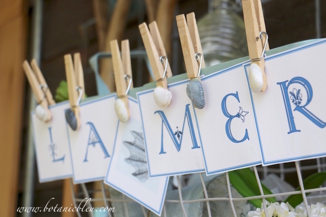 french-coastal-banner-la-mer-with-diy-shell-clothespins
