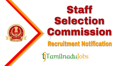 SSC Recruitment notification 2019, govt jobs for 12th pass