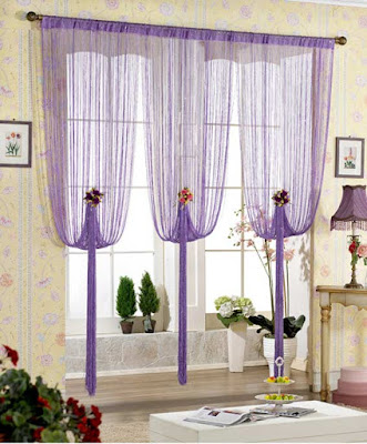 The best types of curtains and curtain design styles 2019, purple curtain design