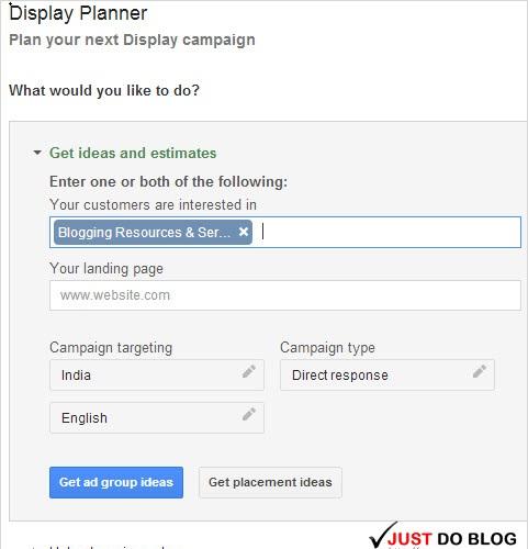 Google Display Planner tool
