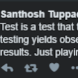A test is...