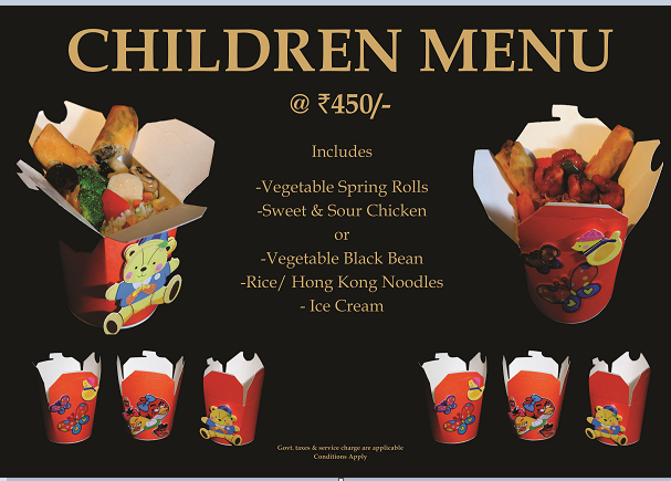 Childern's Day Menu