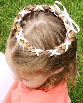 peinados con cintas para niñas