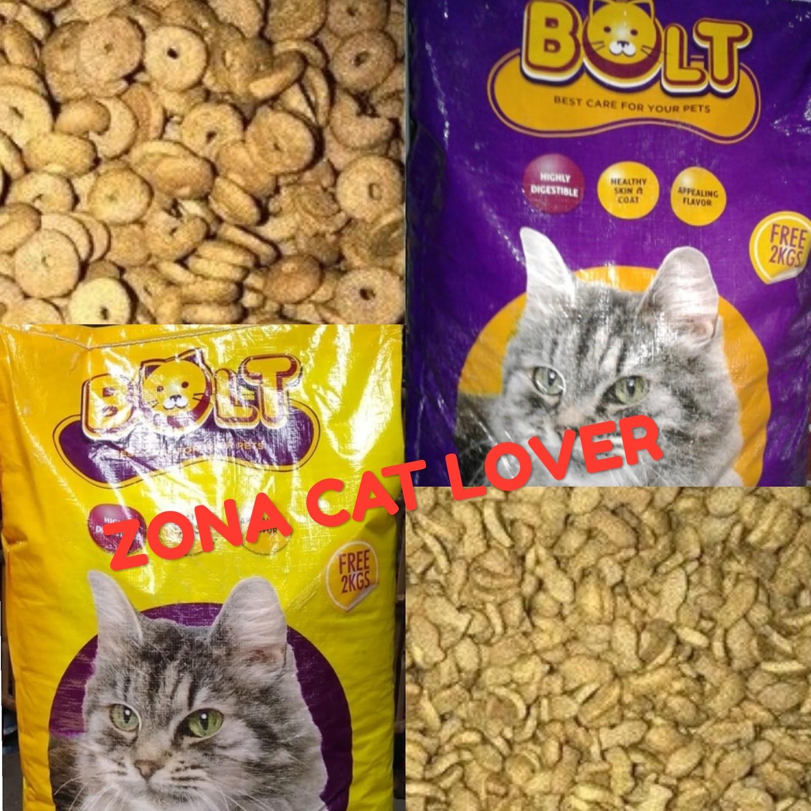 Zona Cat Lover Review Makanan Kucing Bolt