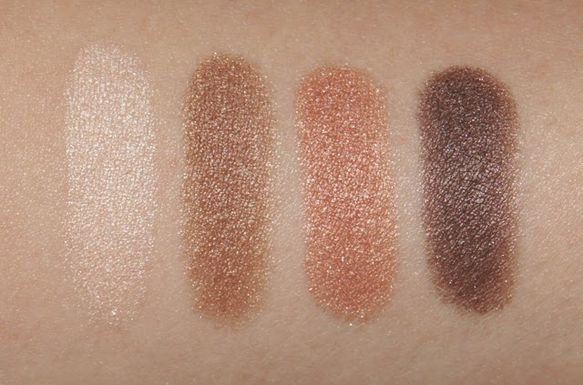 loreal color riche eyeshadow quad nude lingerie swatches