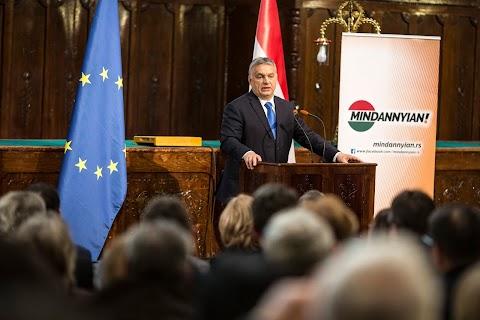 Orbán: csak a Fidesz-KDNP képes kellő súllyal képviselni Magyarországot