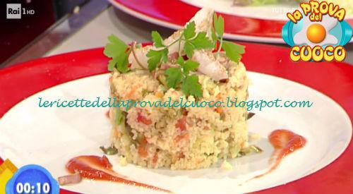 Cous cous con scampi e carciofi ricetta Improta da Prova del Cuoco