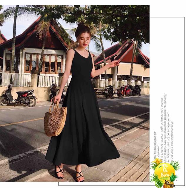 Shop ban vay maxi di bien tai Le Dai Hanh