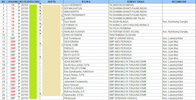 gambar nomor peserta UKG sumatera selatan