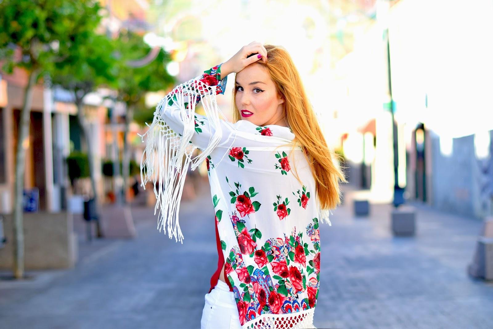 nery hdes, floral print, kimono, yrb fashion, white pants